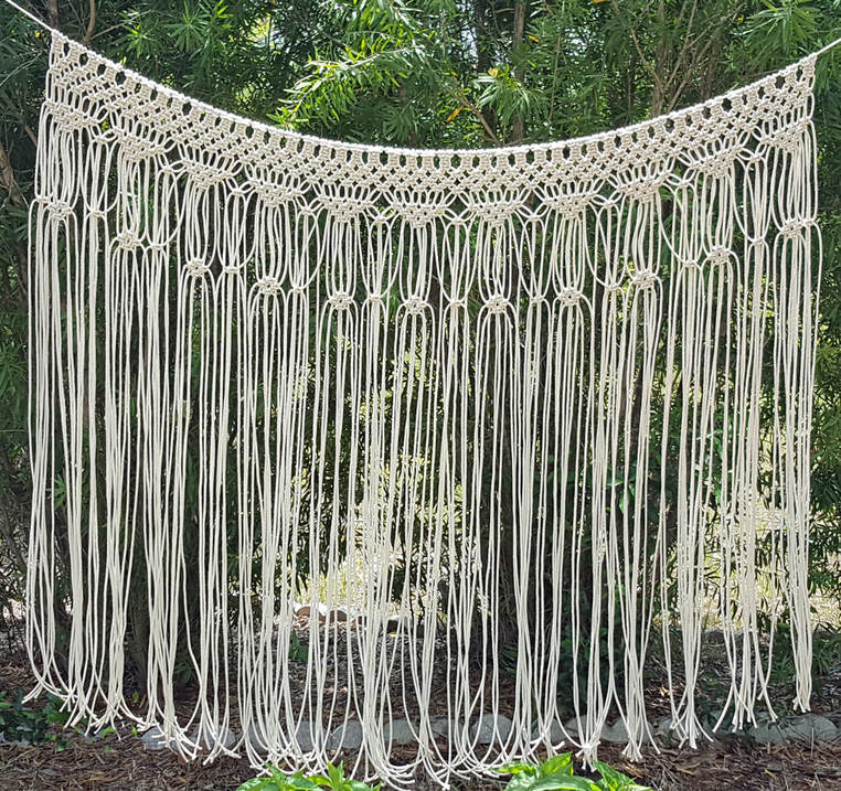 Macrame Bohemian Wedding Arch Decoration