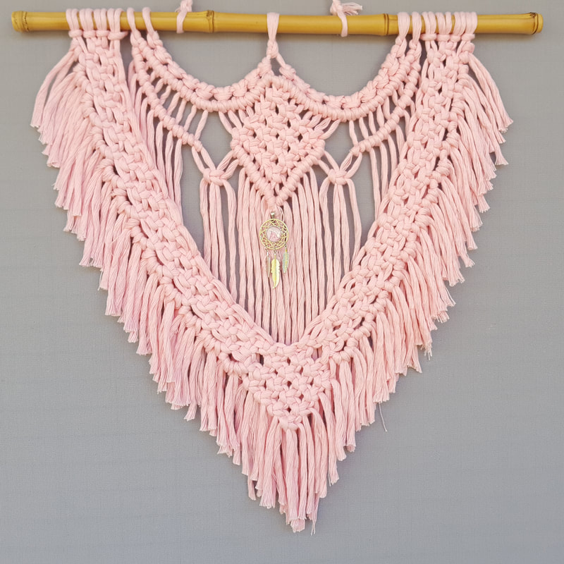 Pink Macrame with Dream Catcher