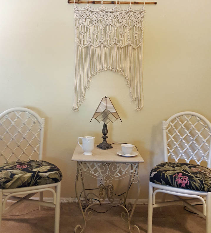 Macrame Window Treatment Wall Hanging