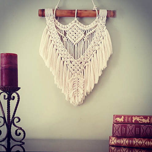 Macrame Wall Hanging with Fringe