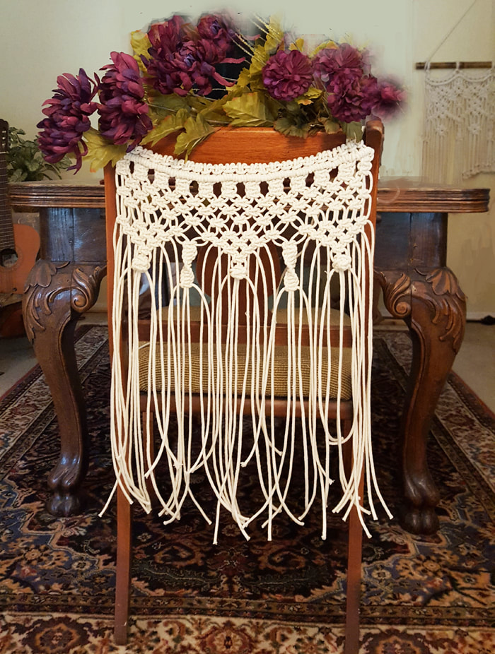 Macrame Wedding Chair Back